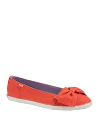 Keds Canvas Bow Flats Coral