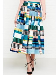 Lk Bennett L.K. Tippi Stripe Full Skirt Multicolour Eden Green