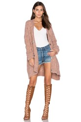 Free People Boucle Cardi Sweater Rose