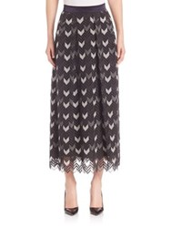 Escada Ankle Length Herringbone Skirt Grey