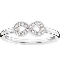 Thomas Sabo Glam And Soul Sterling Silver And Zirconia Pava Infinity Ring