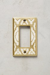 Anthropologie Zagora Switch Plate White