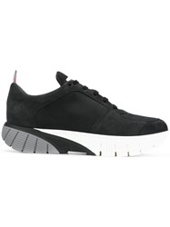 Thom Browne Raised Rubber Sole Running Shoe Black
