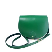 N'damus London Leather Saddle Bag In Shamrock Green