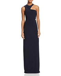 Aqua Cutout Shoulder Gown 100 Bloomingdale's Exclusive Navy