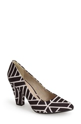 Bc Footwear 'Penthouse' Pointy Toe Pump Women Black White Print