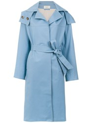 Egrey Belted Trench Coat Blue