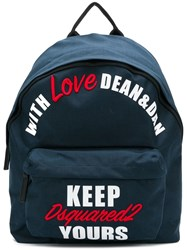 Dsquared2 With Love Backpack Blue