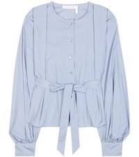 See By Chloe Cotton Blouse Blue