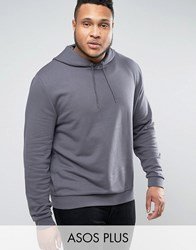 Asos Plus Oversized Hoodie In Grey Eel