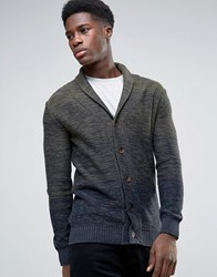 Selected Ombre Shawl Cardigan Green