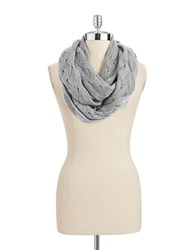 Lord And Taylor Pointelle Cashmere Scarf Light Grey