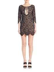 For Love And Lemons Rosalita Cutout Lace Dress Black