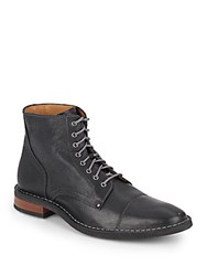 Cole Haan Canton Leather Stitched Boots Black