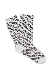 Vetements X Reebok Logo Cotton Blend Socks White