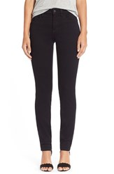 Petite Women's Nydj 'Alina' Colored Stretch Skinny Jeans New Black