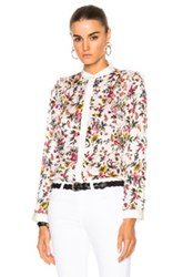 3.1 Phillip Lim Long Sleeve Blouse With Ruffle Detail In Floral White Floral White