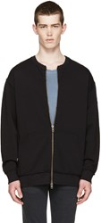 Blk Dnm Black French Terry Zip Up Sweater
