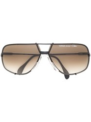Cazal Oversized Aviator Sunglasses Black