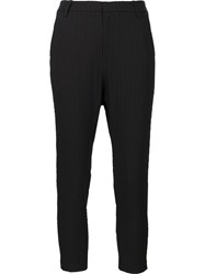 Nili Lotan Slim Fit Cropped Trousers Black