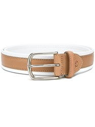 Canali Contrast Belt White