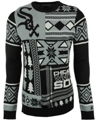 Forever Collectibles Men's Chicago White Sox Patches Christmas Sweater Black White