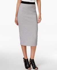 Alfani Petite Gingham Print Midi Skirt Only At Macy's Mini Gingham Jaquared