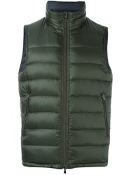 Herno Reversible Sleeveless Padded Jacket Green