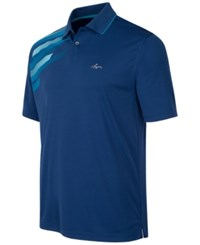 Greg Norman For Tasso Elba Men's Big And Tall Performance Polo Only At Macy's Blue Socket
