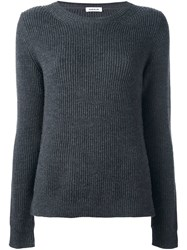 P.A.R.O.S.H. Ribbed Long Sleeve Sweater Grey