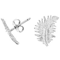 Dower And Hall Sterling Silver Feather Stud Earrings N A N A