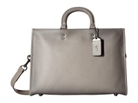 Coach Rouge Brief In Glovetan Leather Heather Grey Briefcase Bags Gray