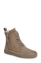 Blackstone Ql64 High Top Sneaker With Genuine Shearling Lining Fungi Leather