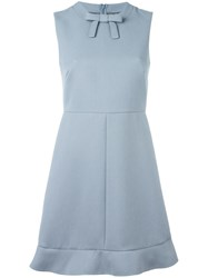 Red Valentino Bow Detail Flared Dress Blue
