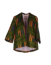 Rose' A Pois Suits And Jackets Blazers Women Military Green