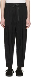 Attachment Black Drawstring Trousers