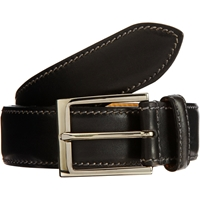Harris Contrast Stitched Belt Black