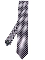 Ermenegildo Zegna Abstract Knit Tie Black