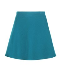Miu Miu Virgin Wool Miniskirt Blue