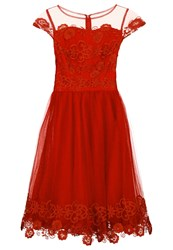 Chi Chi London Aggy Cocktail Dress Party Dress Red