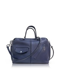 Marc Jacobs Midnight Blue Leather The Edge Satchel Bag