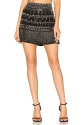 Karina Grimaldi Ada Beaded Skirt Black