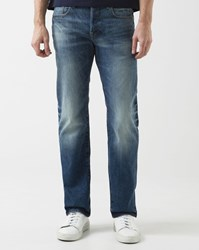 G Star Faded Blue Attacc Straight Cut Jeans