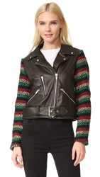 Veda Lion Jacket Rasta Stripe