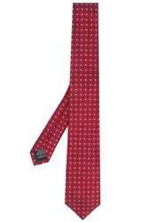 Z Zegna Micro Pattern Tie Red