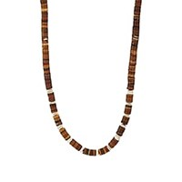 Barneys New York Shell And Sterling Silver Necklace Brown