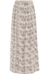 Tory Burch Melia Printed Silk Maxi Skirt Multi