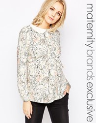 Mama Licious Mamalicious Long Sleeve Printed Top Multi