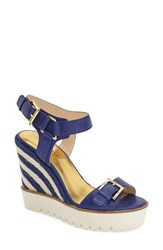 Women's Nine West 'April Shower' Espadrille Platform Wedge Sandal 4 1 2' Heel