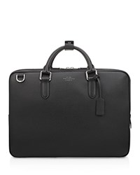 Smythson Slim Briefcase Black